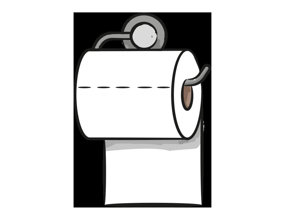 Toilettenrolle VON-HINTEN-ABROLLER